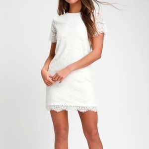 Lulus NWT ivory lace mini  dress